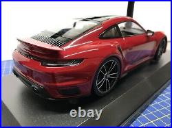 1/18 Minichamps 2020 Porsche 911 (992) Turbo S Red New Limited Edition