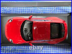 1/18 -minichamps 2019 Porsche 911 (992) Carrera 4s Red New Limited Edition