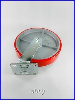 10 x 2 Polyurethane On Cast Iron (Red) Swivel (4EA)