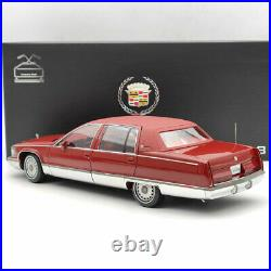 118 GM 1993 Cadillac Fleetwood Sedan Wine Red Diecast Models Edition Collection