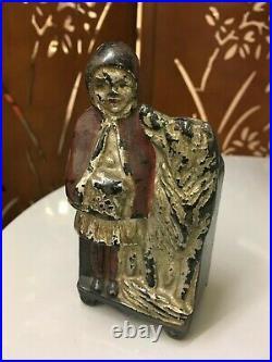 1907 J. M. Harper Little Red Riding Hood Safe Still Bank Cast Iron