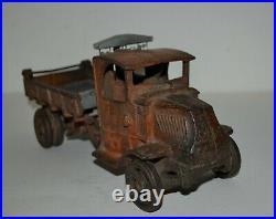 1920s Large Arcade Cast Iron Dump Truck 12 Long