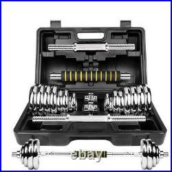 20kg 30kg Adjustable CAST IRON Professional Dumbbell & Barbell Set
