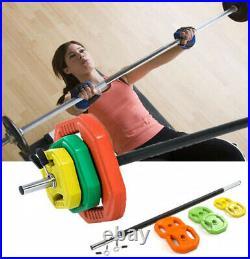 20kg Barbell Bar & Plates Body Pump Weight Set, Strength, Body Building Training