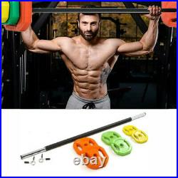 20kg Body Pump Barbell Weight Set Strength Training Home Gym Workout Stand