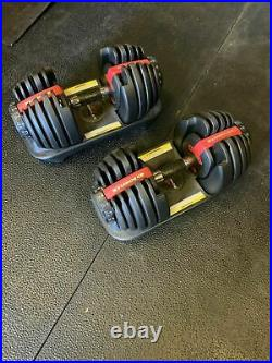 A PAIR of Bowflex Adjustable Dumbbells 552 great condition