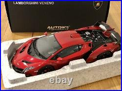 AUTOart 1/18 Lamborghini Veneno Metallic Red Diecast Model Car 74508 AUTO art