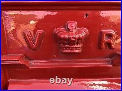 Antique Cast Iron Post Box VR Post Box Original Victorian