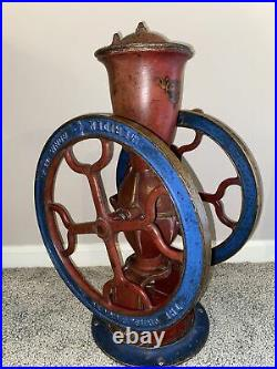 Antique Chas Parker No. 15 Cast Iron Coffee Grinder Mill Rare Model
