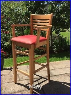 Bistro Table & 4 Armed Chairs, Bespoke, solid wood. Used, but super condition