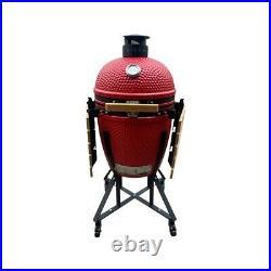 Brockworth Kamado Style Ceramic BBQ 20 Black, Blue Or Red Large Size