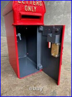 Cast Iron GR Pole Mounted Original Royal Mail Post Box Red George 5th UKAA