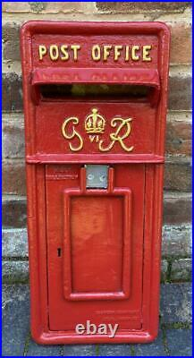 Cast Iron Royal Mail Postbox Letter Box ER / GR RED / BLACK FRONT ONLY