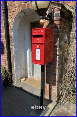 Cast Iron Royal Mail Postbox Letter Box ER / GR RED / BLACK Vintage Replica