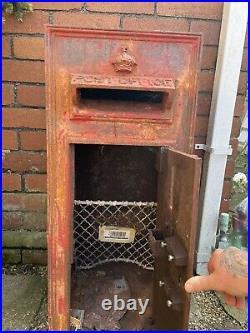 Cast iron royal mail post box