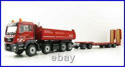 Conrad 77247-0 MAN TGS MEILLER Tipper Truck & Goldhofer 4 axle Low Loader 150