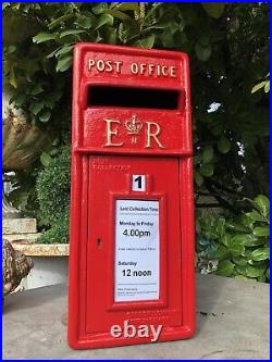 ER Royal Mail Cast Iron Post Office Box ER Red British Post box reproduction