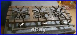 EXTREMELY RARE! Griswold 3 Burner Cast Iron Camping Gas Stove Antique RED CROSS