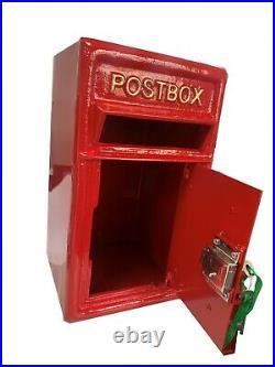 Floor Mounting Cast Iron Post Box Postal Box Red British Mailbox
