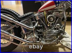 Franklin Mint 110 1969 Harley Davidson Easy Rider Chopper Bike UNBOXED