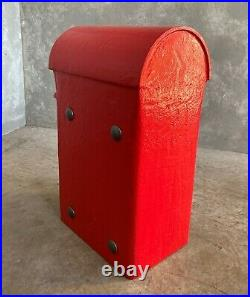 GR Cast Iron Pole Mounted Royal Mail Letter Post Box Red George 5th UKAA