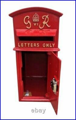 GR Post Box Cast Iron Postal Box Red British Mailbox LARGE Floor Mounting