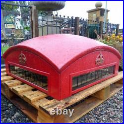 Garden Feature Made From Reclaimed K2 Red Telephone Phone Box Top Cast Iron Rw