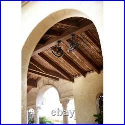 HDC Bentley II 18 in. Indoor/Outdoor Tarnished Bronze Oscillating Ceiling Fan