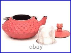 Hello Kitty Nanbu Iron Tea Pot x Coaster 0.35L SET Kettle red Dark brown Green