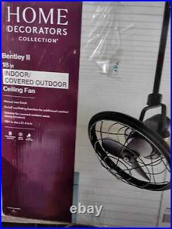 Home Decorators Bentley II 18 In/Outdoor Natural Iron Oscillating Ceiling Fan