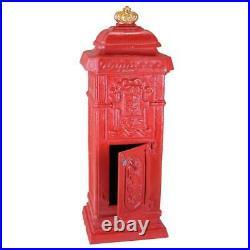 Home Postal British-Style Antique Replica Cast Iron Mailbox 38 Garden Statue