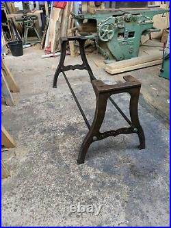 Industrial cast iron New York table leg base
