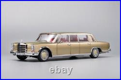 Kengfai 118 Benz Pullman S600 Pearl Champaign Gold/red/black Car