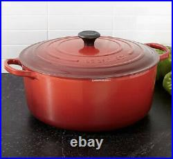 LE CREUSET 13.25 qt Classic Round Dutch Oven Cerise Cherry Red NEW In Box
