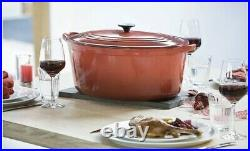 LE CREUSET 15.5 QT GOOSE Pot Cerise Cherry Red Classic Oval Dutch Oven NewIn Box