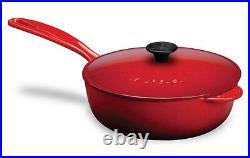 LE CREUSET Enameled Cast-Iron 3-Quart Saucier Pan, New