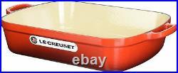 LE CREUSET Signature Cast Iron Rectangular Roaster 7-Quart, New
