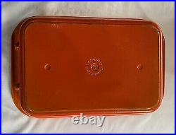 Le Creuset #40 Orange Red Flame Cast Iron Enamel Roasting Casserole Lasagna Pan