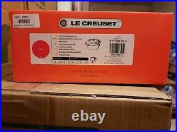 Le Creuset 5.5 qt Signature Round Dutch Oven Cerise Enameled Cast Iron 10.25 in