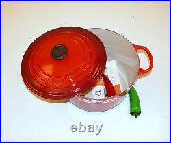 Le Creuset 6.5 QT Cast Iron Deep Round Casserole / Round Oven 26cm Cherry Red