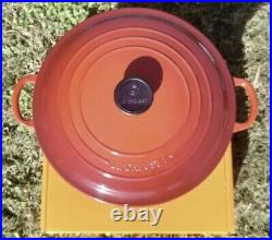 Le Creuset 7.25 qt Classic French Dutch Oven Cerise Cherry Red New In Box 7 1/4