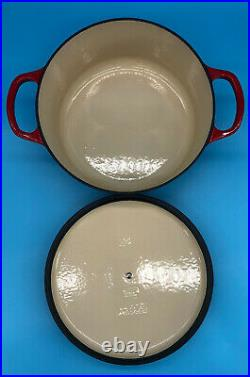 Le Creuset Cast Iron Cherry Red 24cm 4.2L 4 1/2QT Dutch Oven