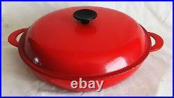 Le Creuset Cast Iron Shallow Casserole Dish & Lid 30cm RED