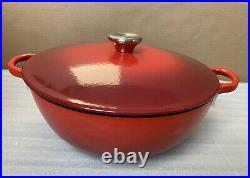 Le Creuset Cerise Red Soup Pot Marmite 4.5qt Cast Iron New