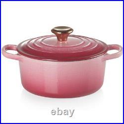 Le Creuset Cocotte Pot Enameled Cast Iron Lid 18cm Berry Signature Dutch Oven
