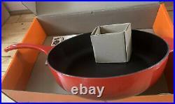 Le Creuset Deep Cast Iron Sauteuse /Sauté 30cm Pan -Cerise (BNIB)
