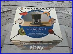 Le Creuset Gourmand Fondue Cherry Red Never Used Table Top Compact