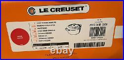 Le Creuset Signature Enameled Cast-Iron Round Dutch Oven, Tartan, Red, NIB, Rare