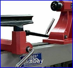 Lumberjack Mini Lathe 5 Speed For Wood Turning Heavy Duty Cast-iron Bed 230V