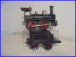 Marklin gauge1-1021- 0-4-0 Loco & Tender-No. 1-black/green/red-c/w-good/box-c1902